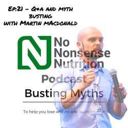 Martin MacDonald Evidence-based nutrition, No Nonsense Nutrition