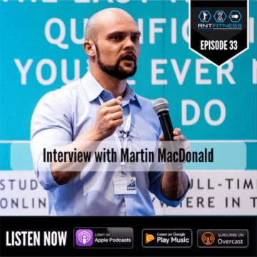 Martin MacDonald Evidence-based nutrition, RNT Fitness